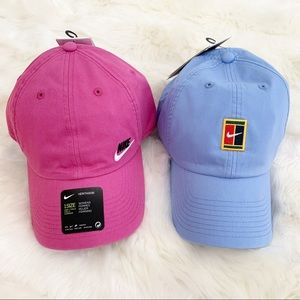 ✔️ NIKE Tennis Hat Heritage Cap New Baby Blue Pink